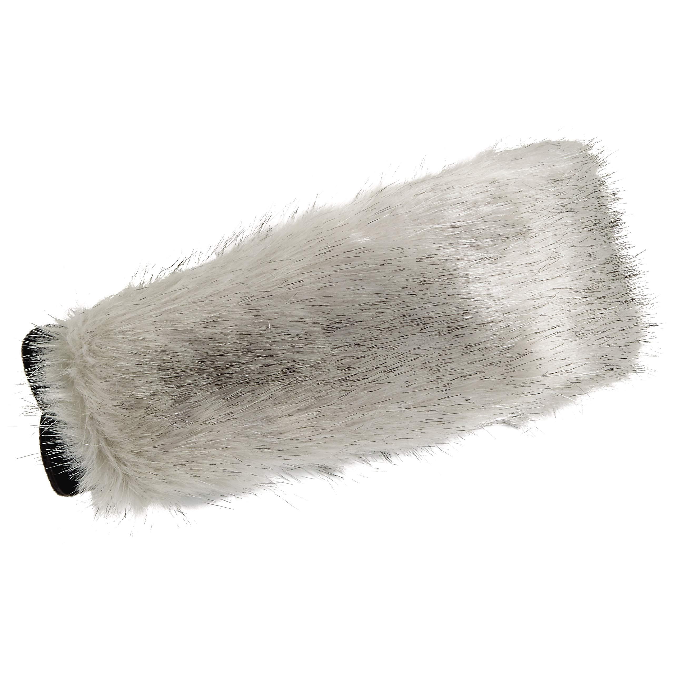 Turtle Fur Fabulous Fay Fleece Lined Faux Fur Oversized Headband Silver