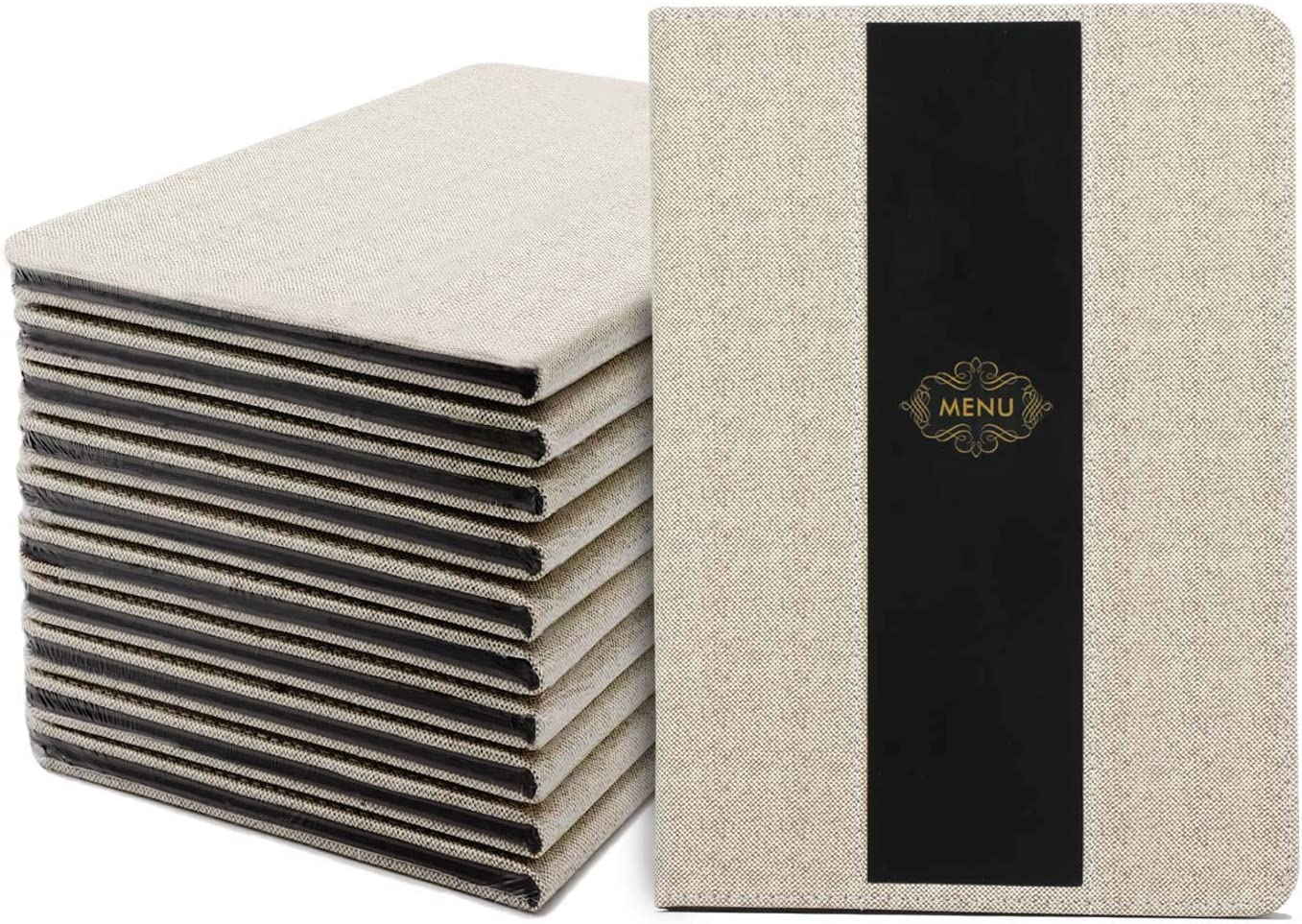 Menu Covers, 10 Pack Segarty 8.5x12 Inch Leather Menu Holders with 8 Insert Pages, Double Views, Table Menu Cover for Restaurants, Diners, Cafe Shop, Bistros, Drinks and Cafeterias