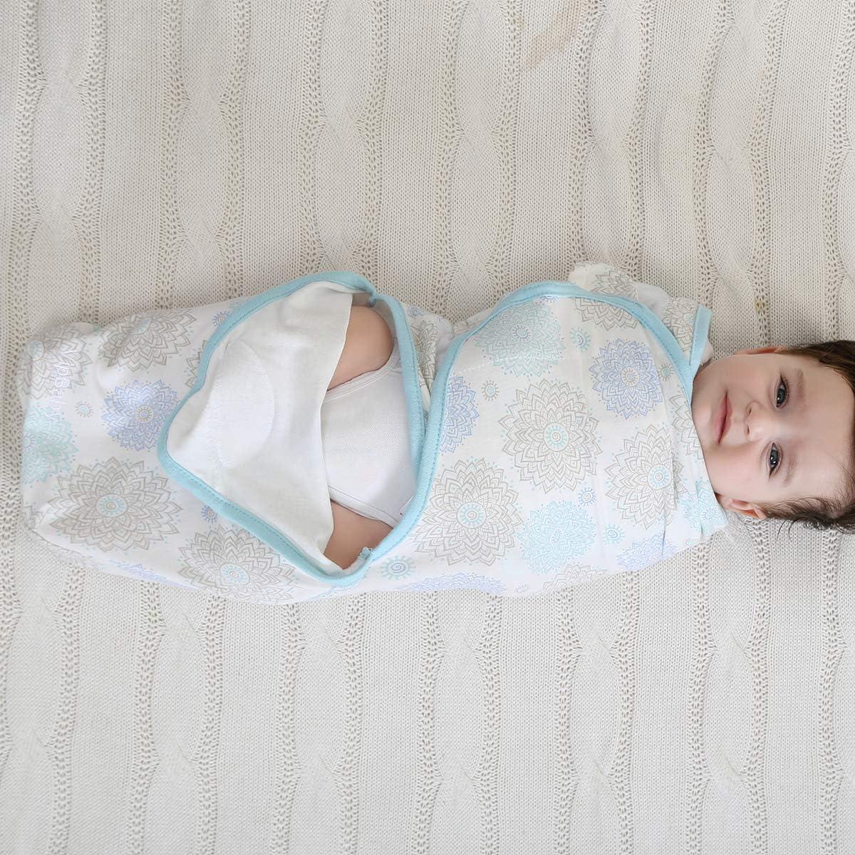 Borlai Baby Swaddle Wrap Reci/én Nacido Manta 100/% Algod/ón Org/ánico Swaddles 2-6 Meses