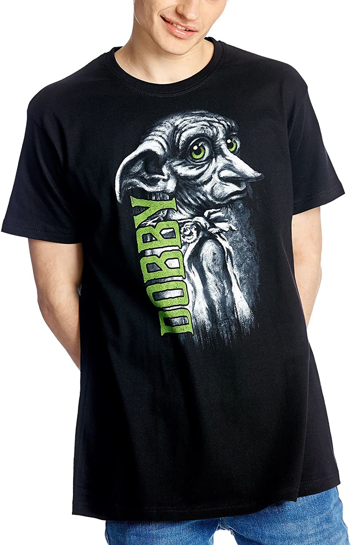 Harry Potter camiseta Elfo Dobby de Elbenwald algodón negro