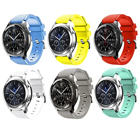 Tabcover Smart Watch Correa,6 Colors 22mm Soft Silicone Sports Replacement Strap for Samsung Gear S3 Frontier / Classic watch