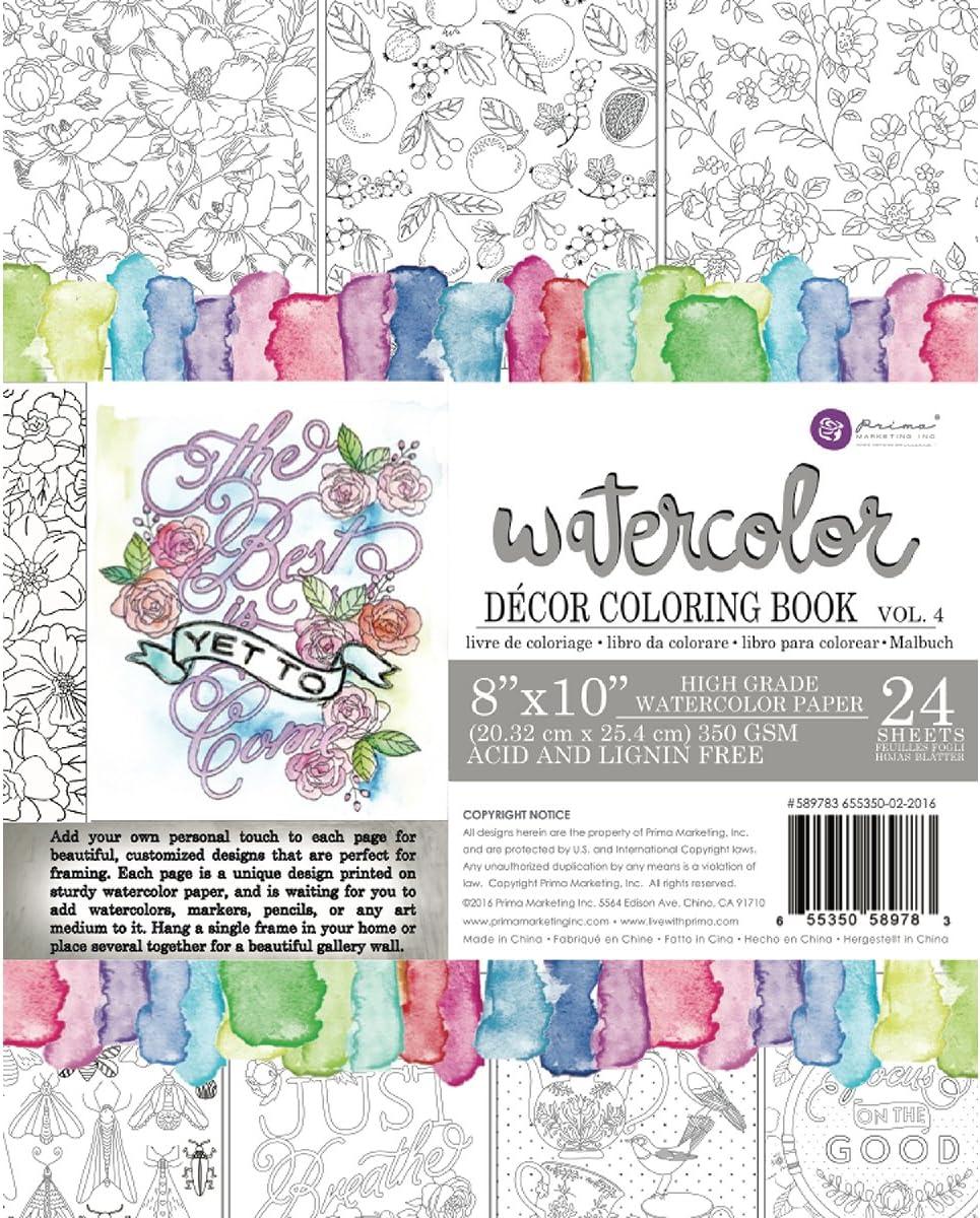 Prima Marketing Coloring Book Vol. 4