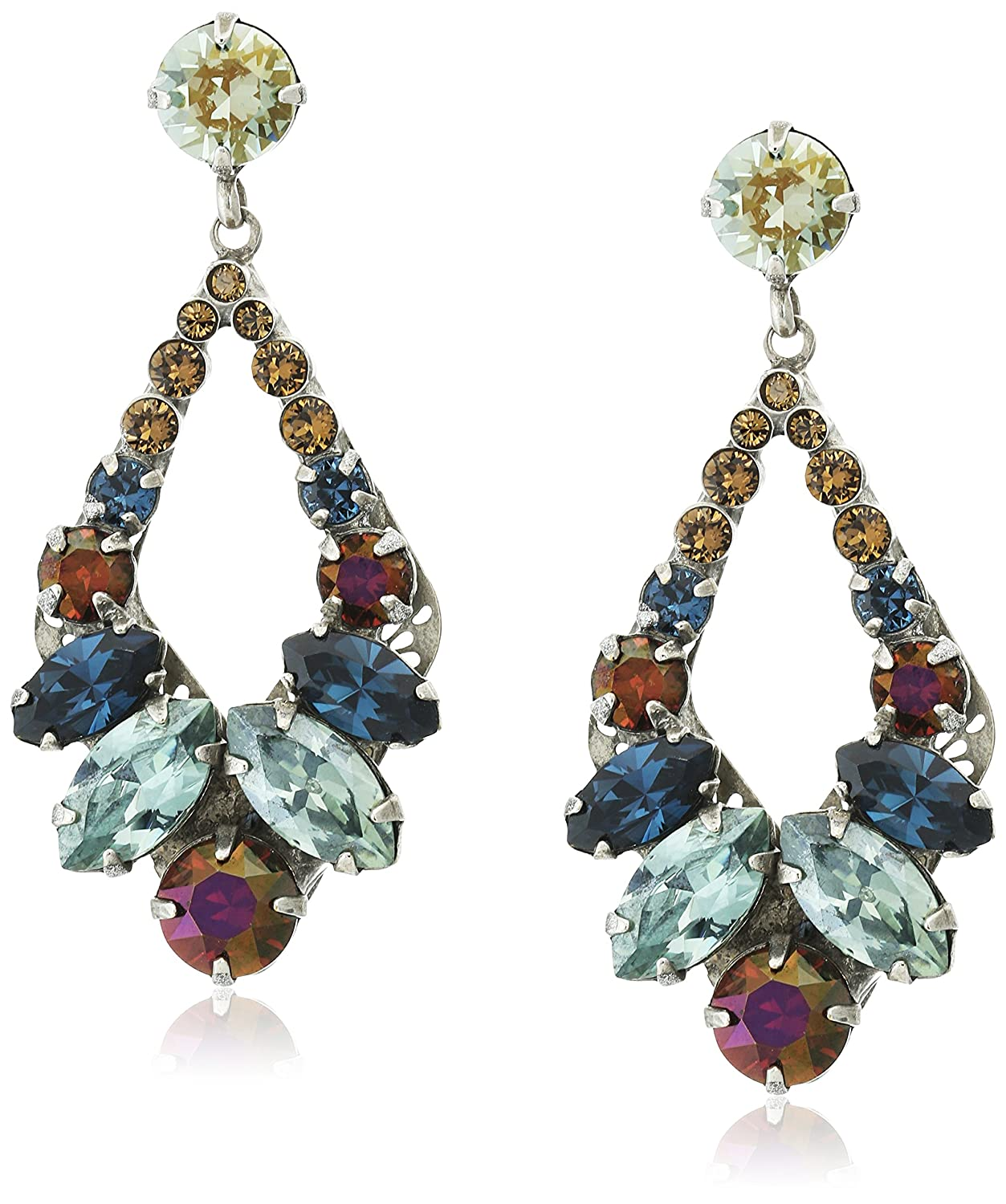 Sorrelli Navette And Round Crystal Adornment Post Drop
