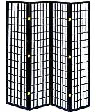 弘益 和風衝立4連 ブラック JP-M180-4(BK)