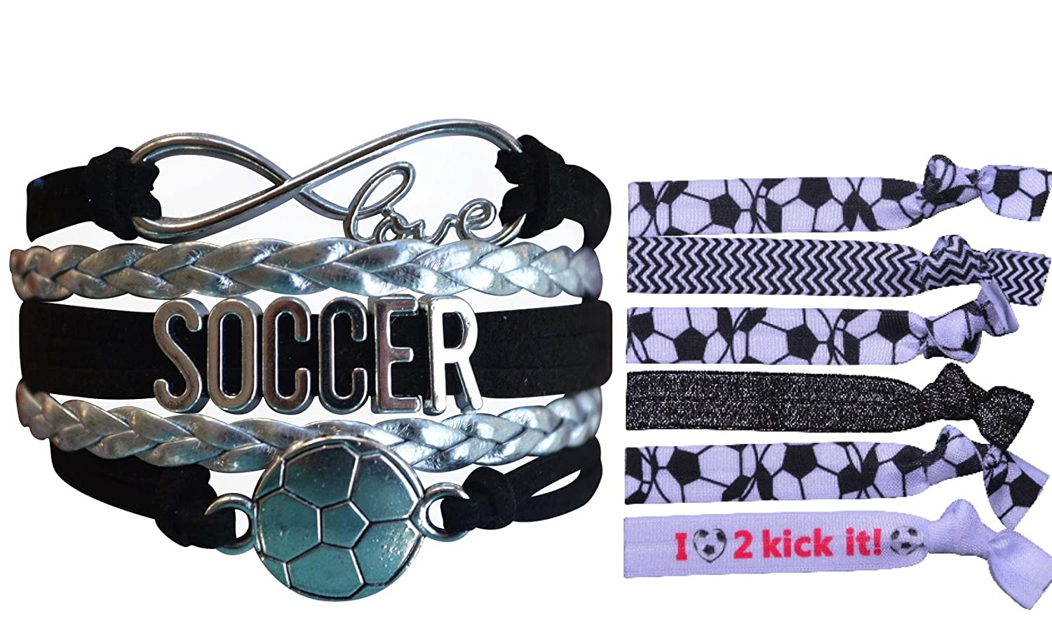 Adjustable Soccer Charm Bracelet- Perfect Soccer Gifts Infinity Collection Soccer Gifts Soccer Jewelry Soccer Bracelet