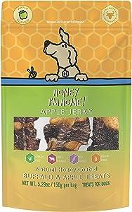 Honey I'm Home All Natural, Honey Coated Buffalo 4 Inch Apply Jerky Treats, 5.29 Ounces