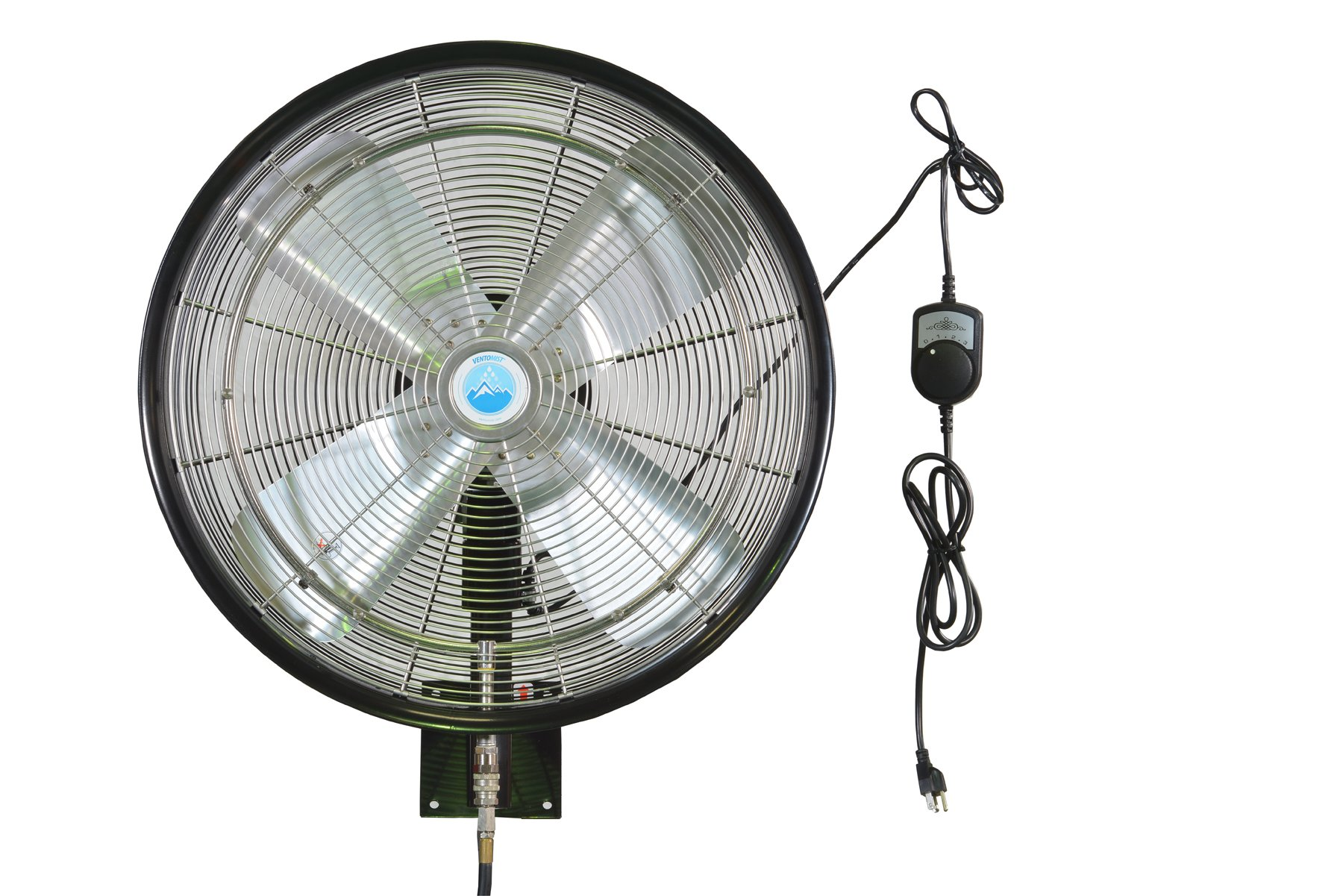 Ventomist VTPFH-24B-OSC-WM Premium Misting Fan Head with Wall Mount, 24''