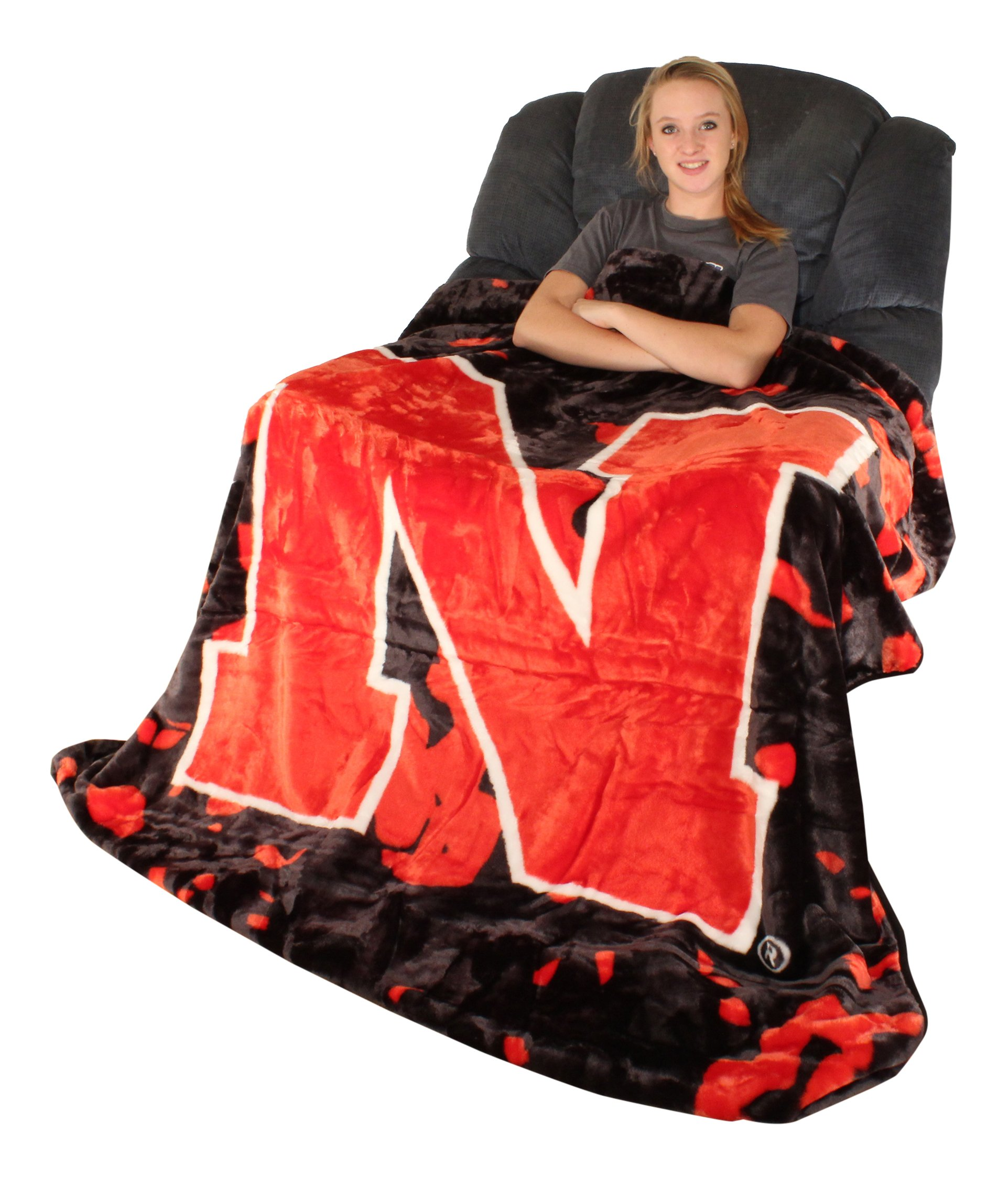 College Covers Nebraska Cornhuskers Throw Blanket/Bedspread by College Covers