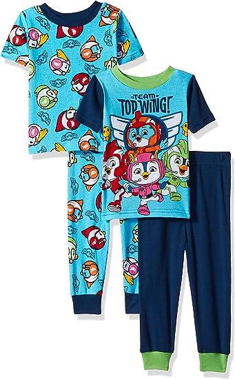 Nickelodeon Boys Top Wing 4-Piece Cotton Pajama Set