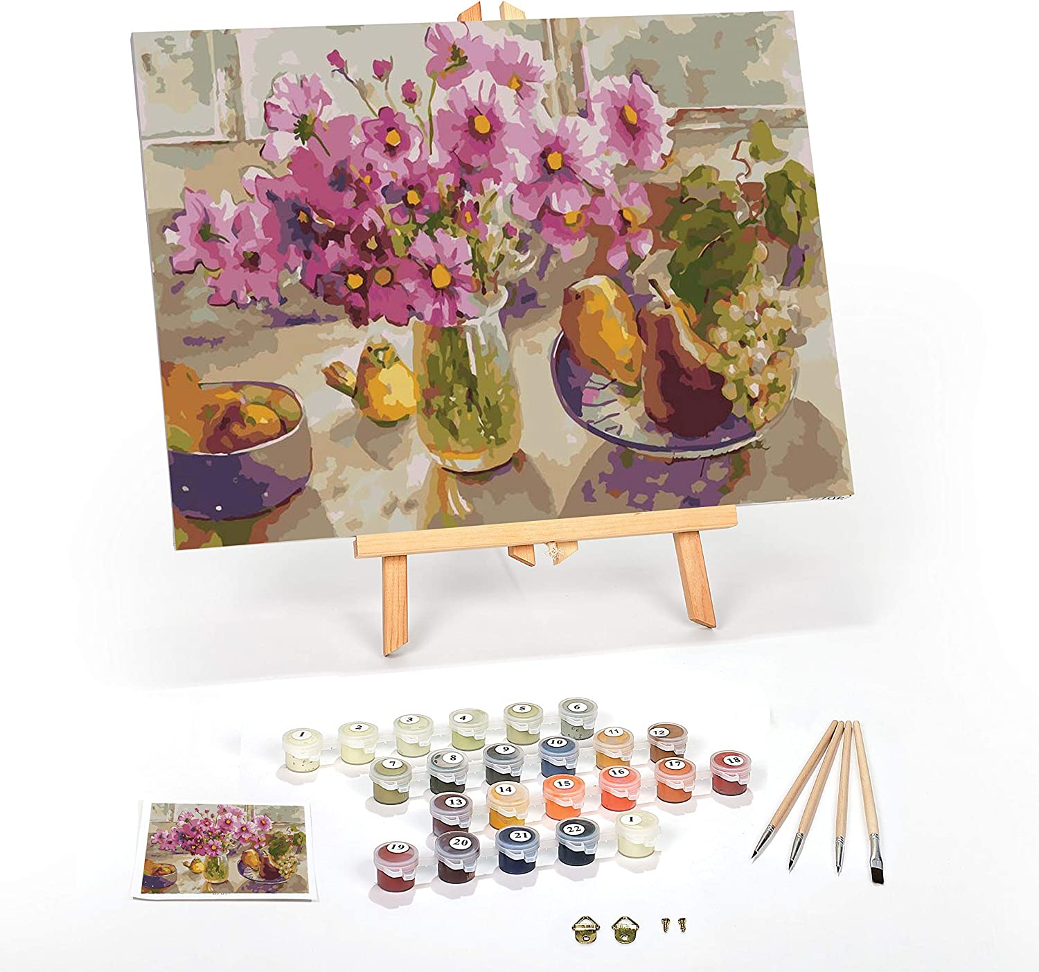 """Paint by Numbers for Adults: Beginner to Advanced Number Painting Kit - Fun DIY Adult Arts and Crafts Projects - Kits Include (Cosmos from The Garden, 16"""" x 20"""" Framed)"""
