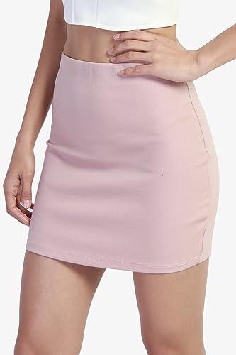 3fb1034de3 TheMogan Basic Sexy Stretch Knit High Waisted Bodycon Mini Skirt at Amazon  Women's Clothing store: