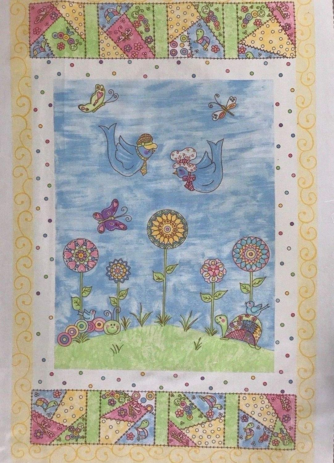 Amazon com: Flannel Fabric Nursery Wall Hanging All a