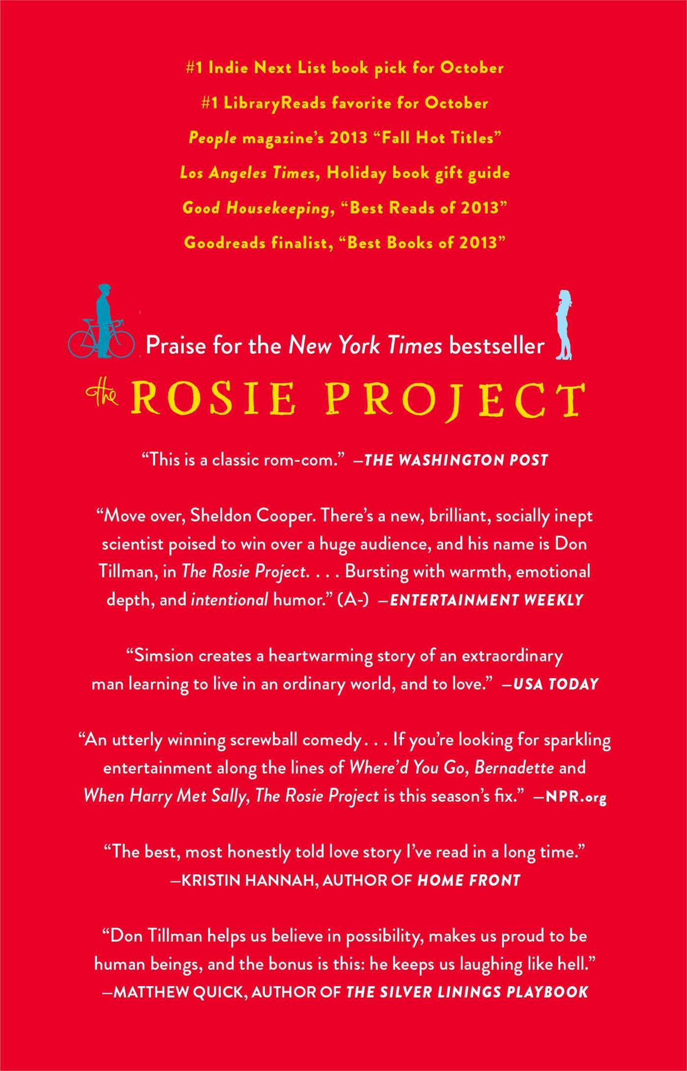 Amazon: The Rosie Project: A Novel (9781476729091): Graeme Simsion:  Books