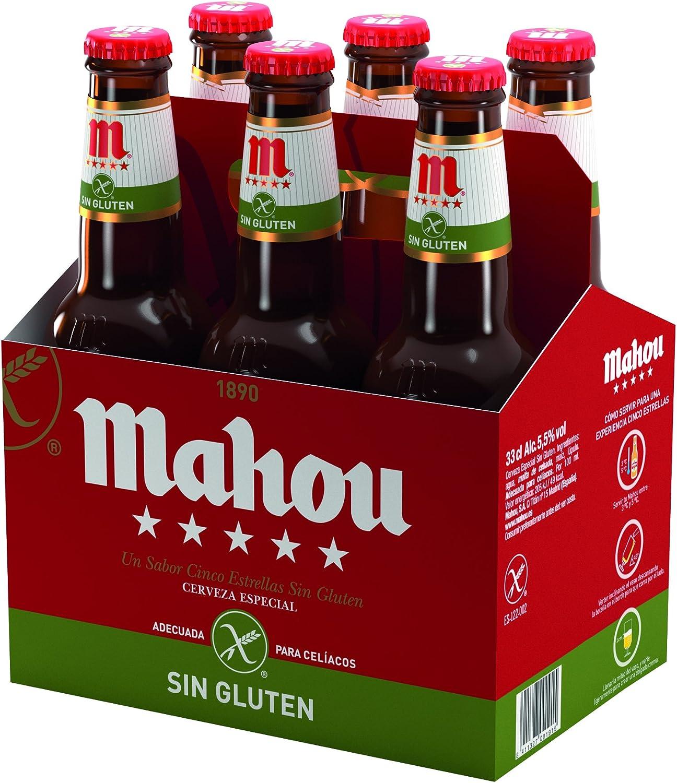 Mahou 5 Estrellas (6 botellas de 33 cl)