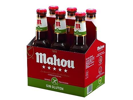 Mahou 5 Estrellas Cerveza Especial sin Gluten, 5.5% de ...