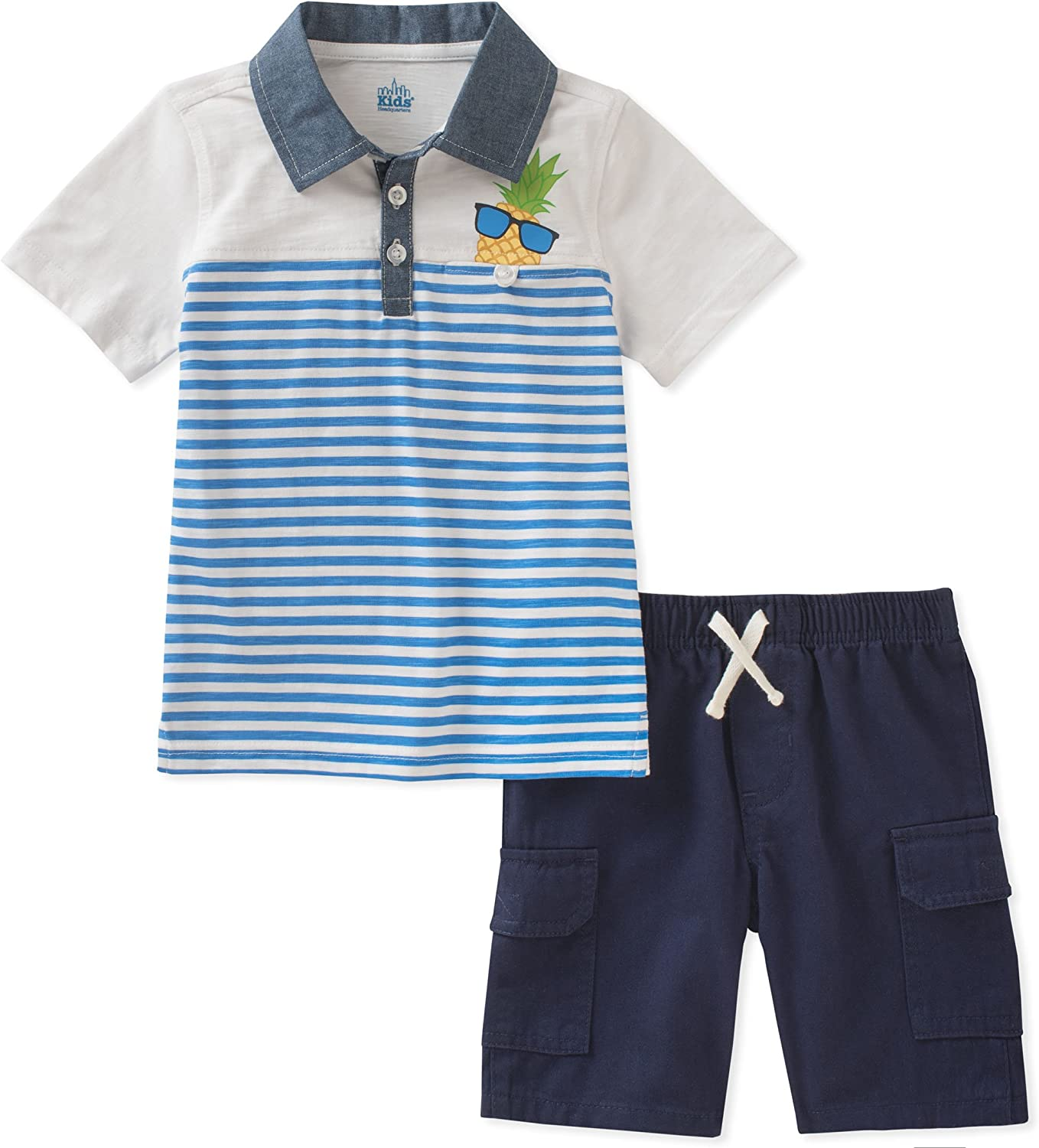 Kids Headquarters Baby Boys 2 Pieces Polo Short Set