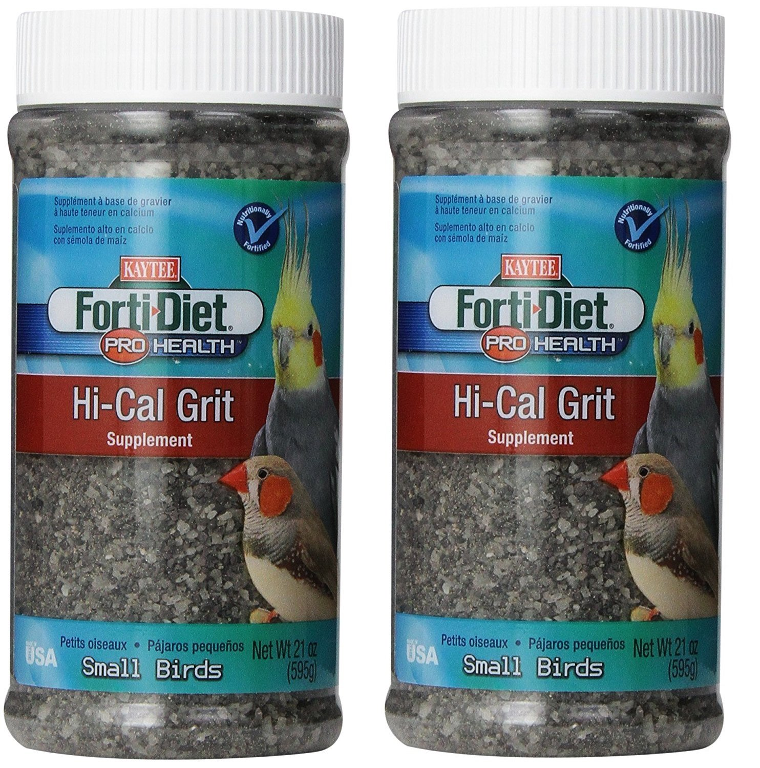 42oz Kaytee Forti-Diet Pro Health Hi-Calcium Grit for Small Birds, 21-oz jar (42oz)