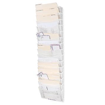 Diseño de soporte de archivo Vertical organizador modular de pared con almacenamiento de 15 carpetas para pared organizador de oficina moderno y elegante ...