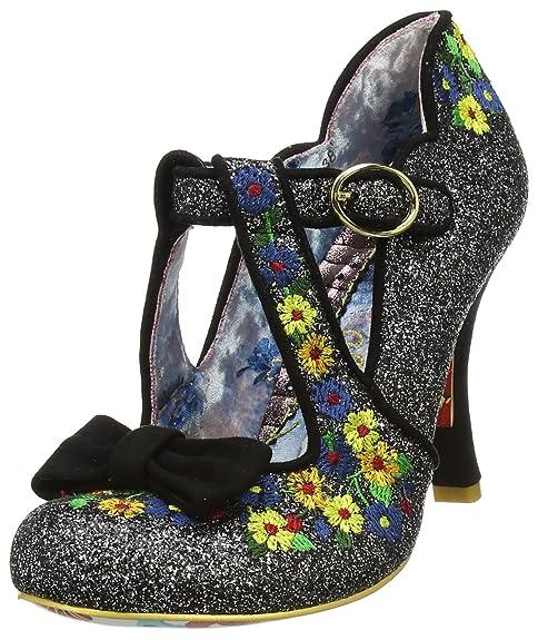 Irregular Choice 3614-69C - Zapatos de Tacón con Punta Cerrada de Sintético Mujer, Color Negro, Talla 37