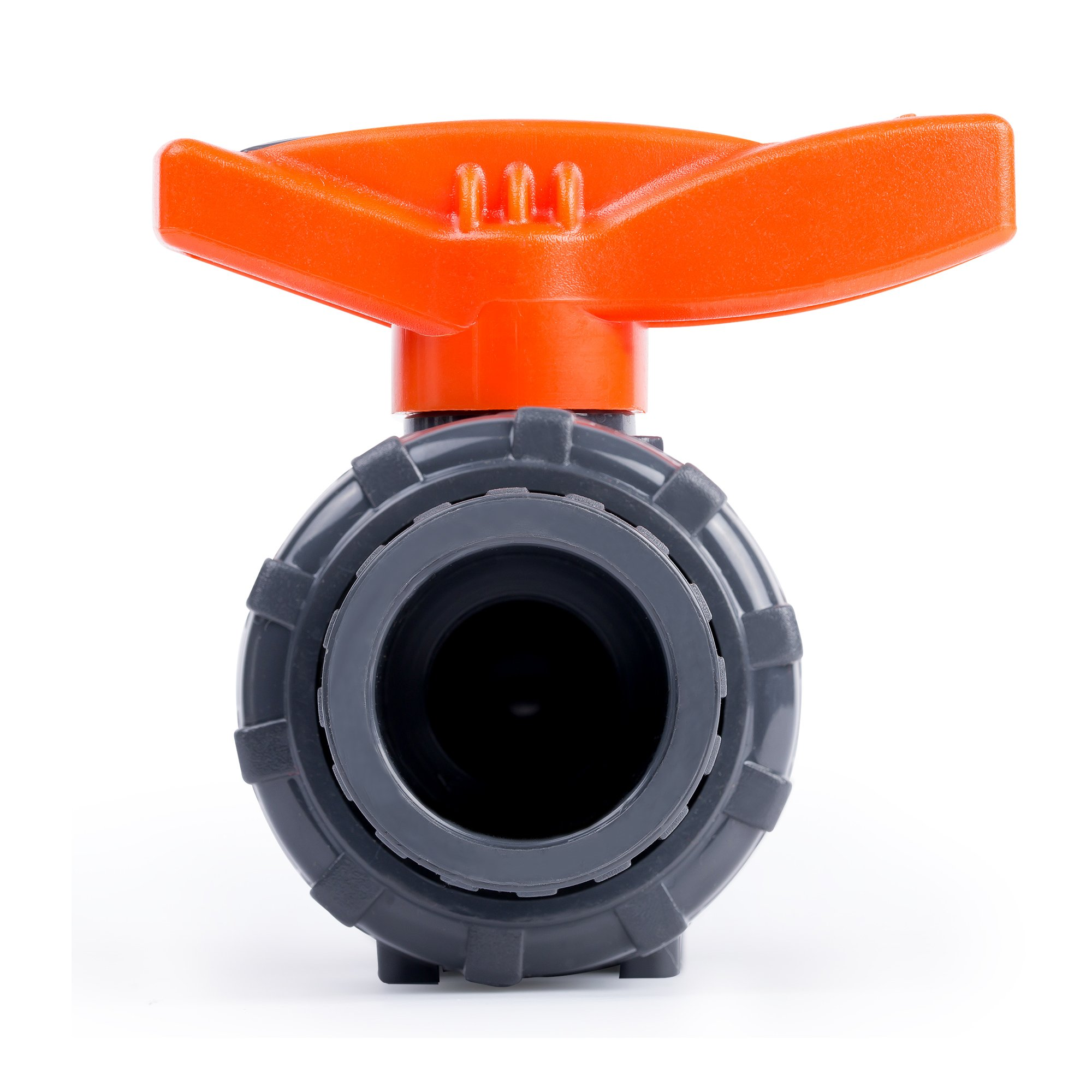 HYDROSEAL Kaplan 3/4'' PVC True Union Ball Valve with Full Port, ASTM F1970, EPDM O-Rings and Reversible PTFE Seats, Rated at 200 PSI @73F, Gray, 3/4 inch Socket (3/4'') by Hydroseal (Image #8)