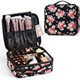 Stagaint Travel Makeup Bag Organizer Train Case Portable Train Cosmetic Case Organizer with Adjustable Dividers Large…