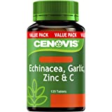 Cenovis Echinacea, Garlic, Zinc & C - Reduces duration and severity of common cold symptoms - Antioxidant