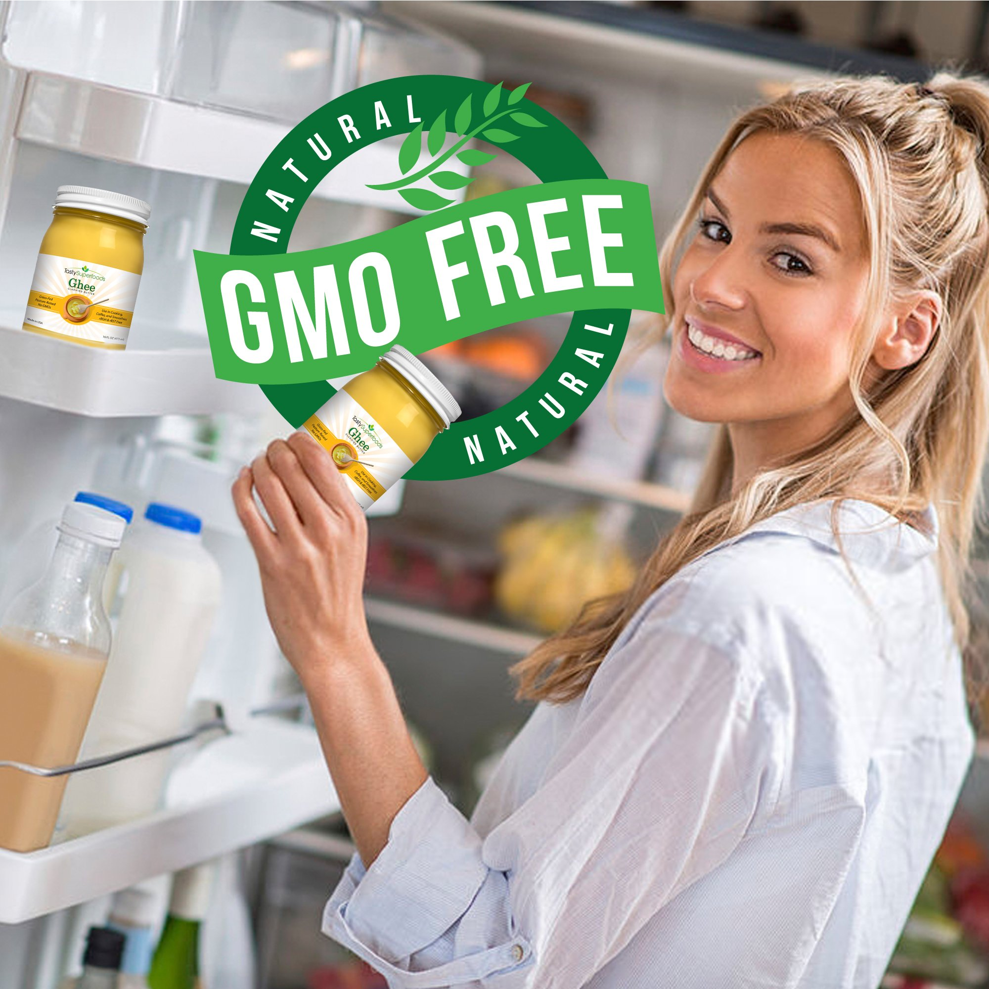 Tasty Superfoods Grass Fed Organic Ghee - Glass Jar of Pure, Unsalted Clarified Butter from Grass-Fed Cows - Best Healthy Oil for Indian Cooking, in Coffee, or for diets like Paleo and Whole30 (16oz) by Tasty Superfoods (Image #4)