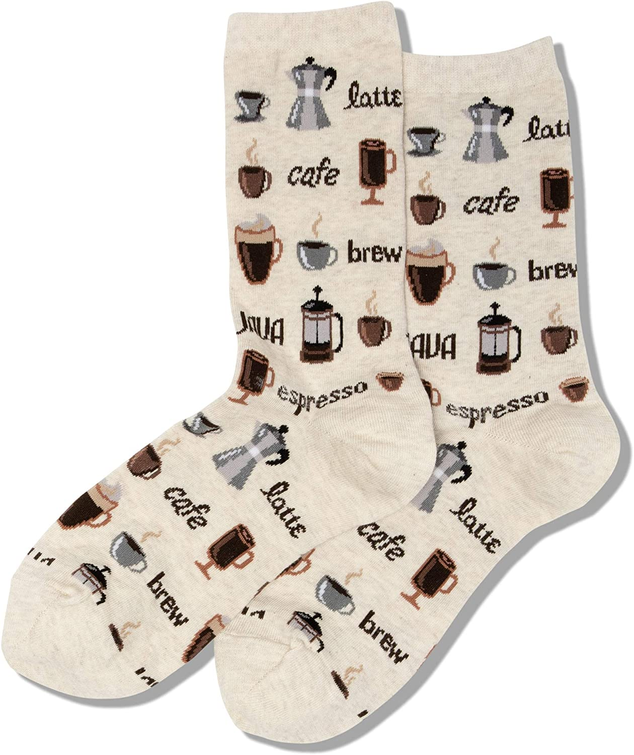 Hot Sox Women's Food and Drink Novelty Casual Crew Socks