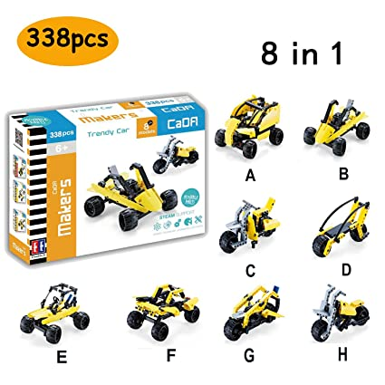 Amazon Com Hosim Car Building Blocks Set 8 In 1 Assembly Building