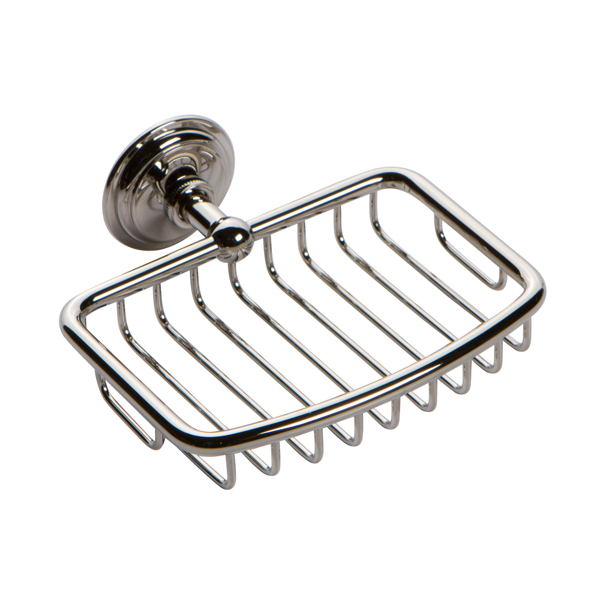 Ginger 26550/PN London Terrace Wall Mounted Shower Soap Basket, Polished Nickel