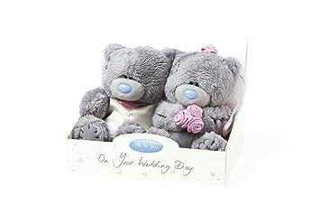 Me To You - Lote de 2 osos de peluche vestidos de novios (10 cm