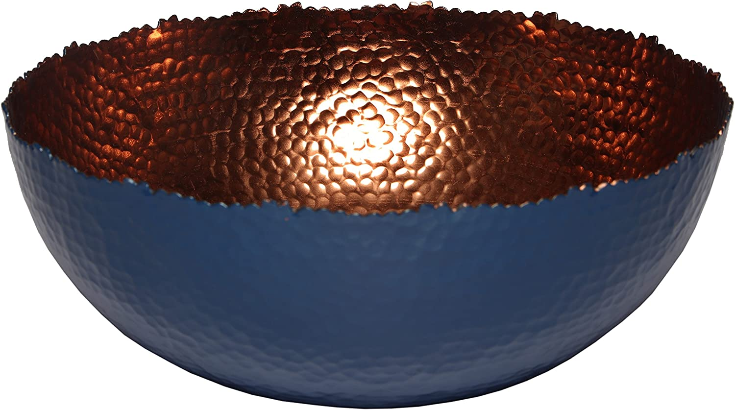 Melange Home Decor Cuivre Collection, 12-inch Bowl, Color - Navy