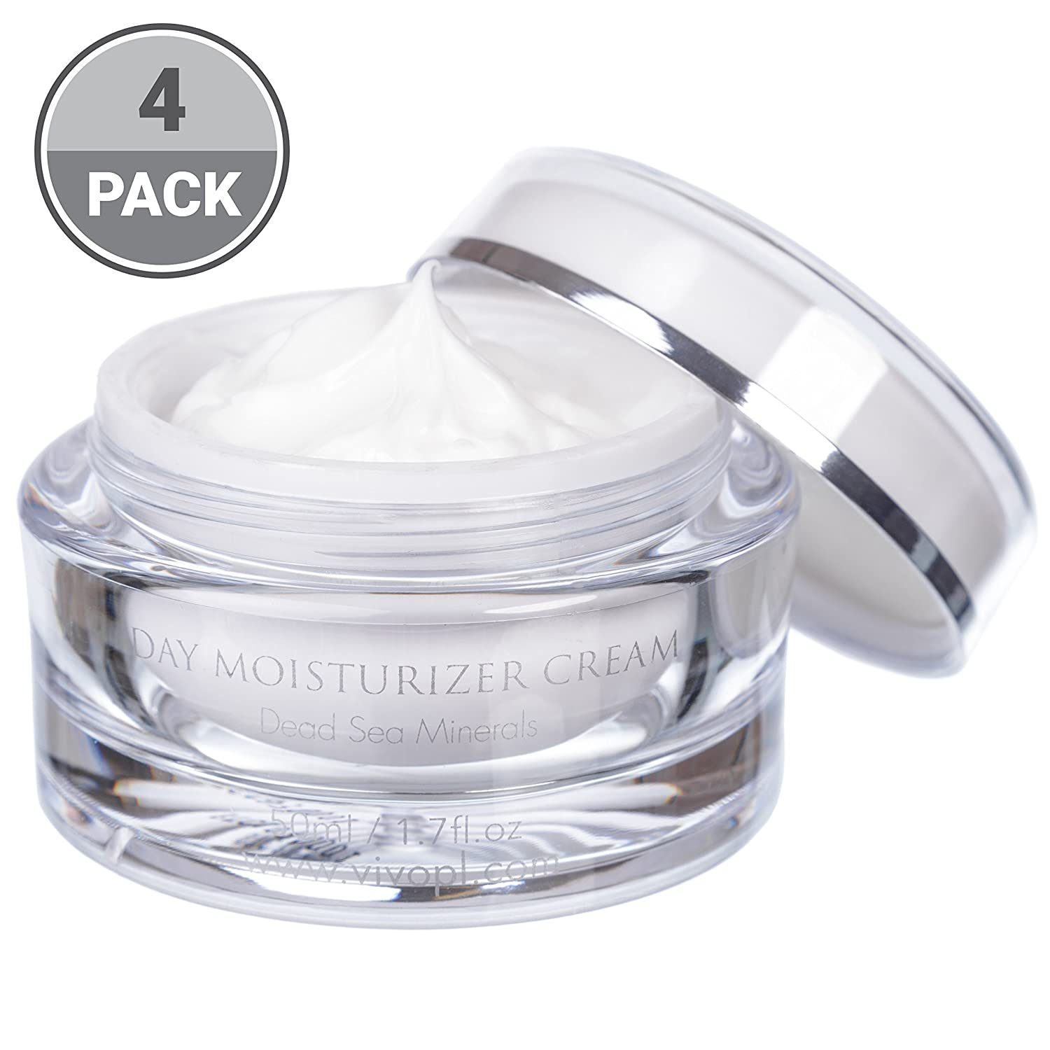 Vivo Per Lei Day Cream   Dead Sea Face Cream for Dull, Dry Skin  Moisturizing Day Cream with Shea Butter   Non Greasy Day Moisturizer   Hydrating Face Cream for Women  Beautiful Skin Needs No Miracle 609728457518