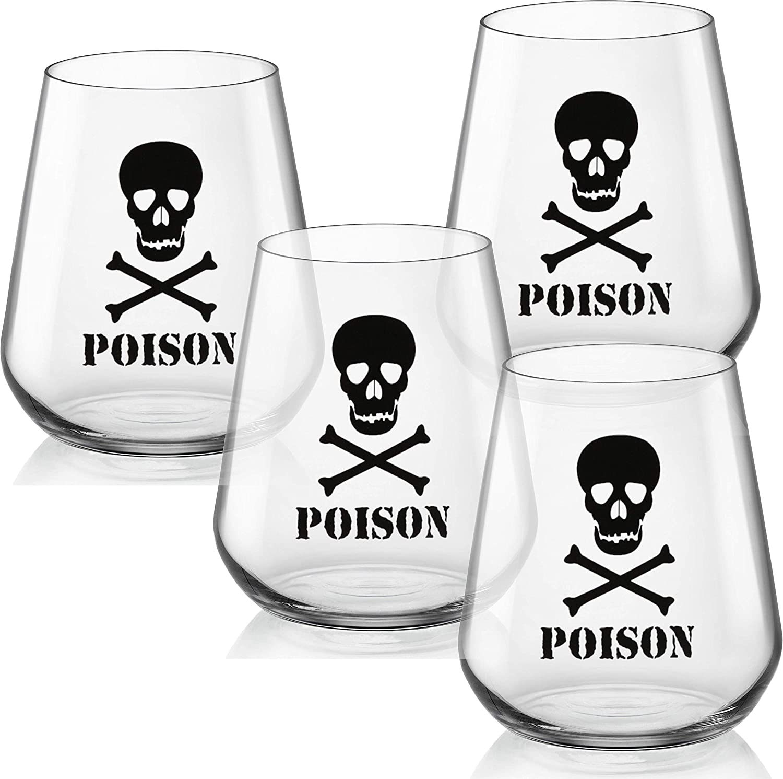 Amazon.com: Circleware – Juego de vasos de vino sin tallo ...