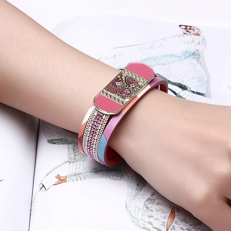 Aokarry Leather Bracelet for Women Characteristic Pattern
