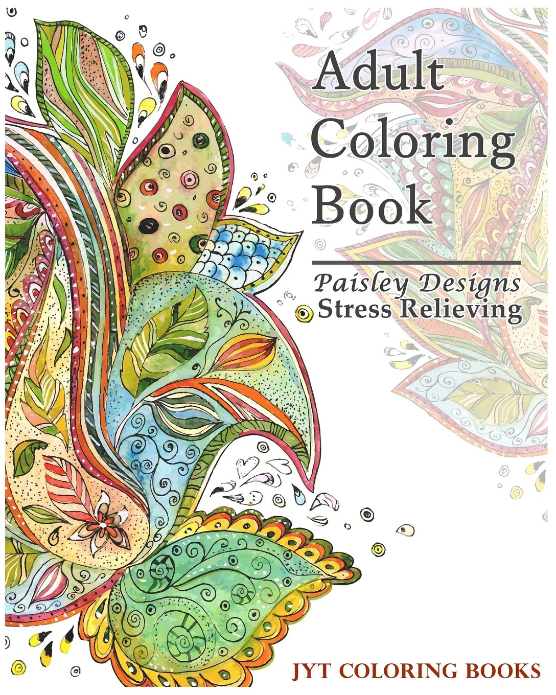 Amazon.com: Paisley Designs Coloring Book: Stress Relieving (Adult ...