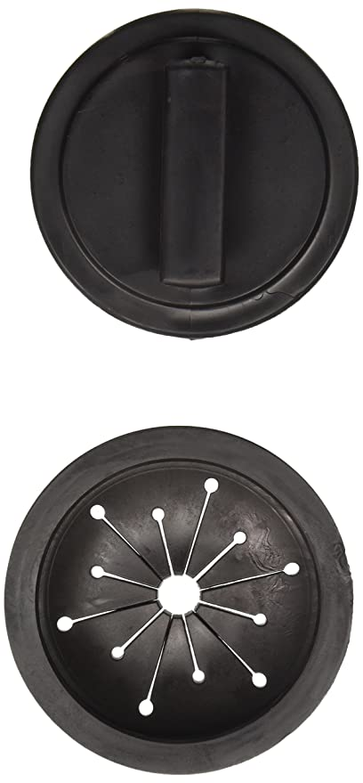 Waste King 1025 Sink Stopper And Splash Guard (Black)
