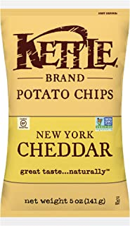 product image for Kettle Brand Potato Chips, New York Cheddar Bags,5 Ounce (Pack of 8)