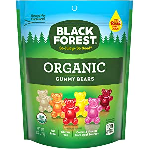 Black Forest Organic Gummy Bears Candy, 8 Ounce, Pack of 6