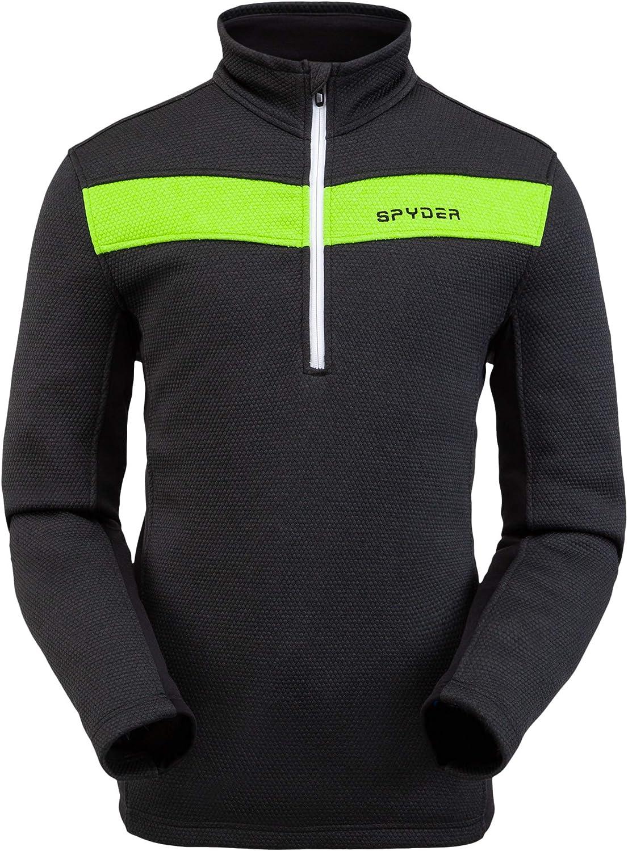 Spyder Men/'s Encore Fleece Jacket Male Half Zip Pullover Outdoor Apparel