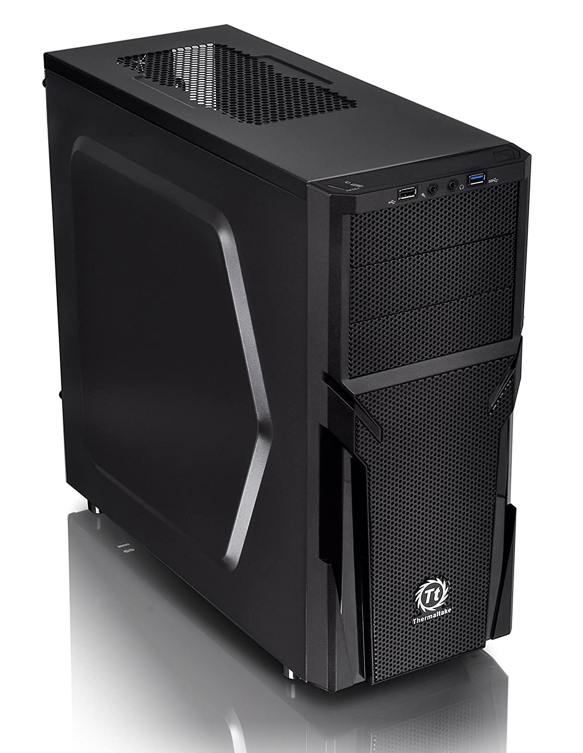 Thermaltake Versa H21 SPCC ATX Mid Tower Computer Chassis CA-1B2-00M1NN-00 Thermaltake USA Direct