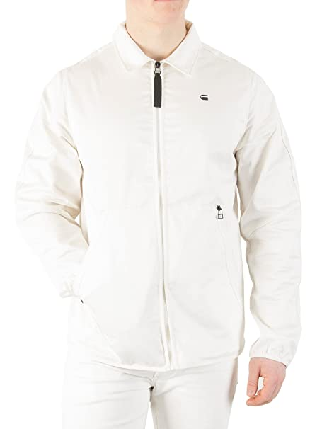 G-Star Hombre Strett Coach Overshirt Jacket, Blanco, Small: Amazon.es: Ropa y accesorios