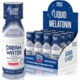 Dream Water Natural Sleep Aid, GABA, MELATONIN, 5-HTP, 2.5oz Shot, Nighttime Nectar 12 Count
