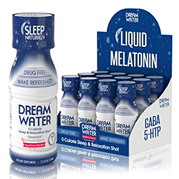 a64b1af6e5e005 Amazon.com: Dream Water Natural Sleep Aid, GABA, MELATONIN, 5-HTP ...
