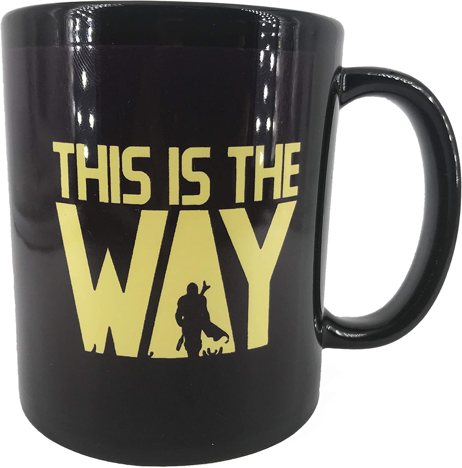 "Star Wars Themed""THIS IS THE WAY"" Quote Coffee Mug, The Mandalorian TV Series Inspired, 11oz Black Ceramic, Microwave Dish Washer Safe, Won't Fade Away, Fathers Day Gift, Husband, Boyfriend Birthday"