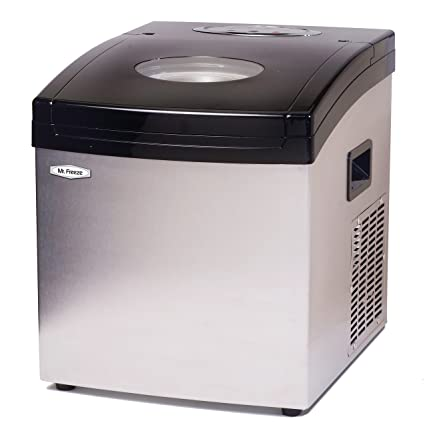 Bon MaxiMatic MIM 5802 Mr Freeze Portable Ice Maker, Stainless Steel