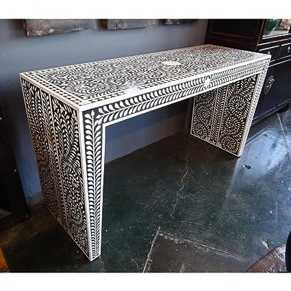 Beau Amazon.com: Bone Inlay Modern Antique Handmade Console Table: Kitchen U0026  Dining