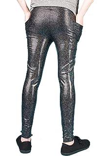 d5021413fa34b3 Meggings With Pockets/Men's Leggings - 3 COLOUR OPTIONS - Holographic Gold/ Black /