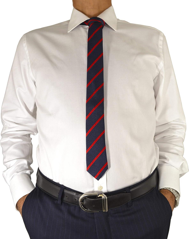 E. MECCI M38 Camisa para Hombre 100% Algodón Royal Oxford ...