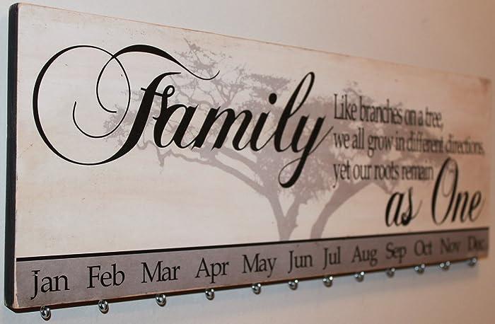 Amazon Com Family Tree Family Birthday Calendar Board Handmade